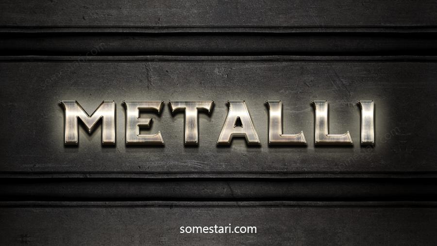 Metallitekstiefekti