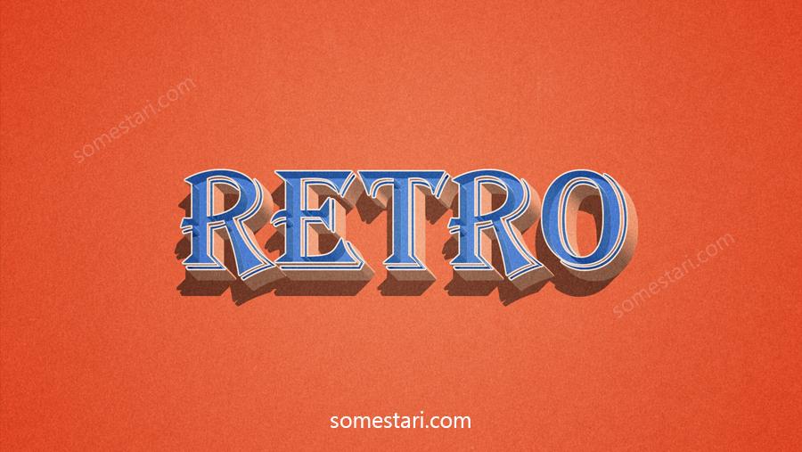 retro tekstiefekti