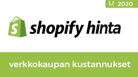 shopify verkkokaupan kustannukset