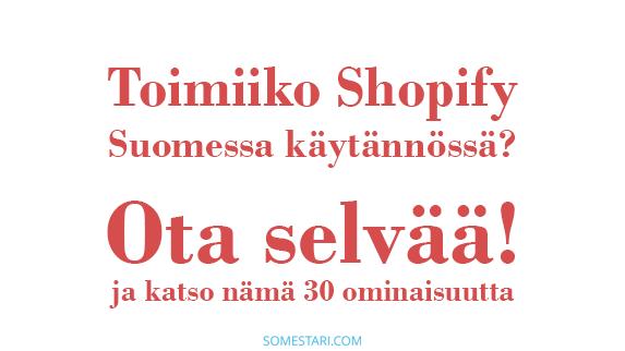shopify suomessa